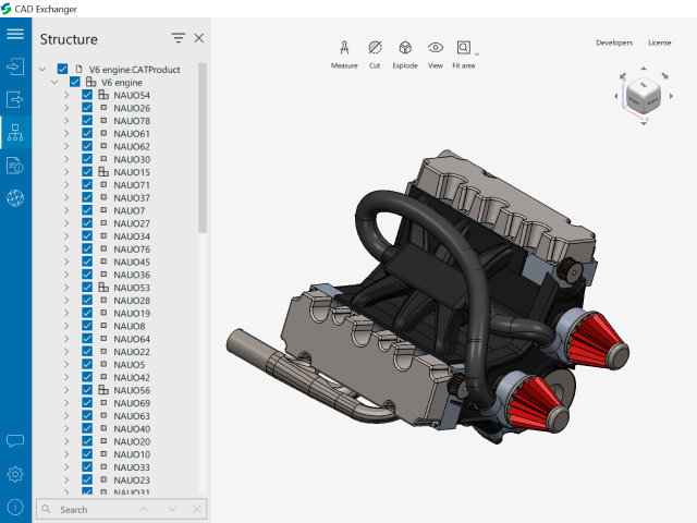 CATIA, DWG and U3D Import, and Model Simplification in CAD Exchanger 3.9.0